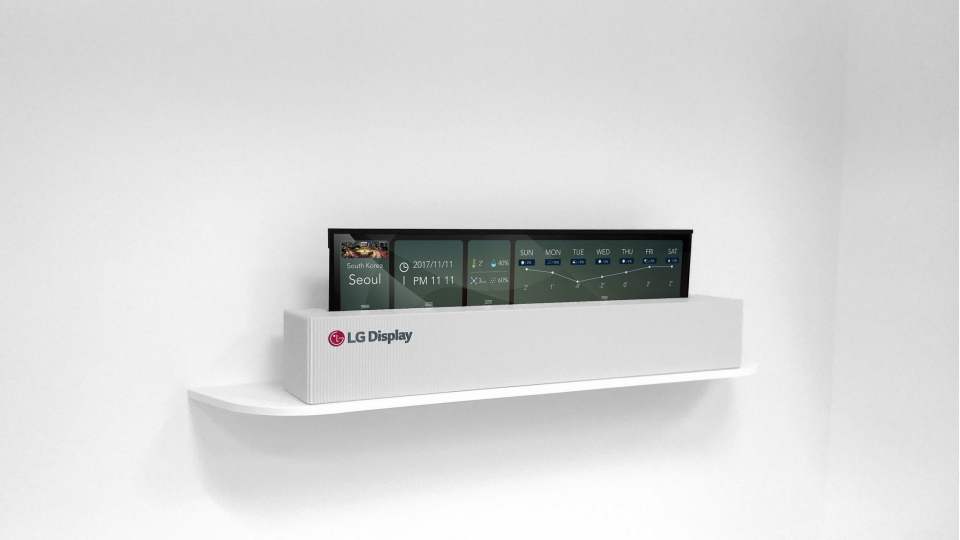 Rollable OLED TVs