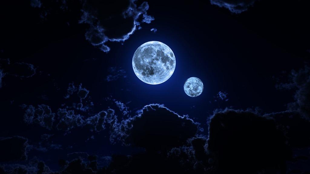 Two hidden moons